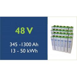 Batterie solaire - TAB - 48 V - Translucide OPzS