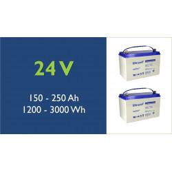 Batterie solaire - Ultracell - Plomb - 24 Volts - 100 à 250 Ah