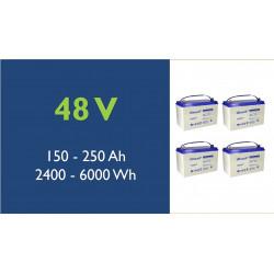 Batterie solaire - Ultracell - Plomb - 48V - 100 à 250 Ah