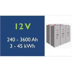 Batterie solaire - TAB - 12 V - OPzV Tubulaire Gel