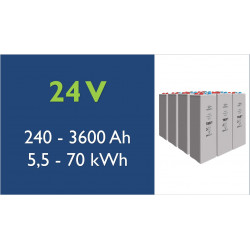 Batterie solaire - TAB- 24 V - OPzV Tubulaire Gel